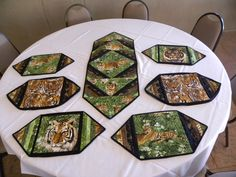 Table runner and place mats for a wonderful family.