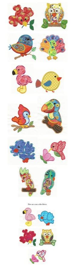 Embroidery | Free machine embroidery designs | Birds of a Feather Applique by brandi