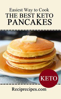 Best Keto Pancakes, Low Carb Pancakes, Pancakes Easy, Chocolate Birthday Cake Decoration, Birthday Cake Decorating, Almond Flour Pancakes, Avocado Oil, Sea Salt, Low Carb Recipes