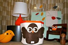 Wedding Gift Basket Controversy : Sprouts Owl Bin fits perfectly in this retro room!.....bought this ...