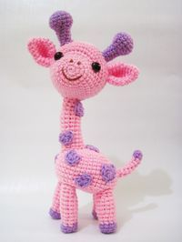 Gigi the Giraffe amigurumi crochet pattern by Sweet N' Cute Creations Amigurumi Toys, Amigurumi Patterns, Knitting Patterns, Crochet Patterns, Crochet Dolls, Crochet Baby, Knit Crochet, Stuffed Animals, Crochet Animals