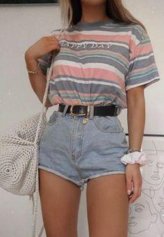 Girls Fashion Clothes, Teen Fashion Outfits, Retro Outfits, Girly Outfits, Cute Casual Outfits, Look Fashion, Stylish Outfits, Woman Fashion, Fashion Beauty