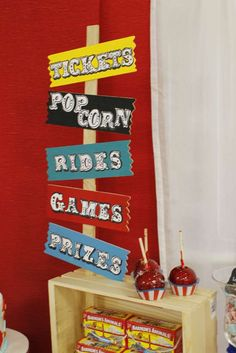 Vintage Carnival Birthday Party Ideas | Photo 2 of 37 | Catch My Party