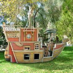 Red Beards Revenge Pirate Ship Playhouse- My nephew, Kyler would LOVE this!!!
