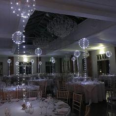 Wedding Ceiling Decorations, Wedding Reception Table Decorations, Quinceanera Decorations, Wedding Reception Flowers, Wedding Centerpieces, Quinceanera Ideas, Wedding Ideas, Wedding Gowns, Light Up Balloons