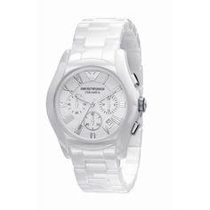 Buy Emporio Armani AR1403 Gents White Ceramic Round White Dial Online armaniemporiowatches.co.uk