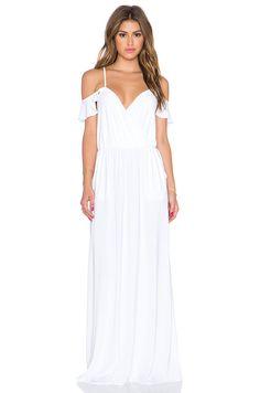 Spaghetti Strap White A-line Chiffon Long Vintage Wedding Dress Peek-a-boo