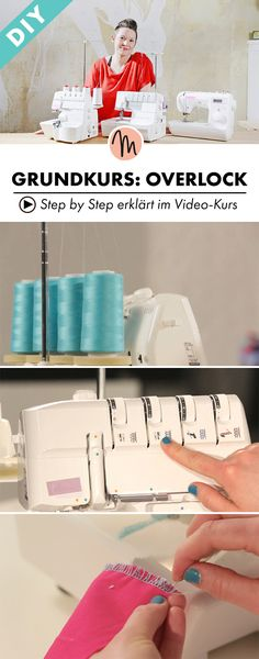 Bring sewing projects to a new level and get to know all the possibilities of an overlock - step by step explained in the video course via Makerist.de Basic course: Tempting overlock Sester ester sesteredi Nähen Bring sewing projects to a new level Sewing Projects For Beginners, Sewing Tutorials, Sewing Hacks, Diy Projects, Sewing Tips, Sewing Crafts, Techniques Couture, Sewing Techniques, Sewing Patterns Free