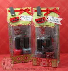 Nonna's Craft Corner: Wishing You Joy.  Manicure sets.