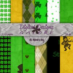 St. Patrick's Day Digital Paper Pack