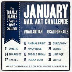 January Nail Art Challenge