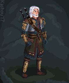 ArtStation - Daily Sketch - - Geralt of Rivia, Kashou - Witcher Art, The Witcher, Arte 8 Bits, 8 Bit Art, Geralt Of Rivia, Pixel Art Games, Minecraft Pixel Art, Large Canvas Wall Art, Monster Hunter