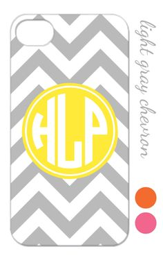 Gray and Yellow Chevron iPhone Case