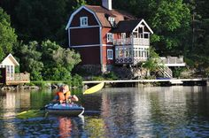 Idyllic at Tyresö, Stockholm. Big And Beautiful, Beautiful World, Lakefront Property, Lake George, Stockholm Sweden, Wonders Of The World, Bro, Mansions, House Styles