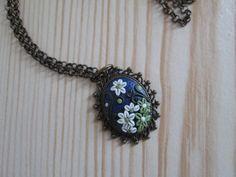 Oval Floral Pendant by FernandaMcCormack on Etsy