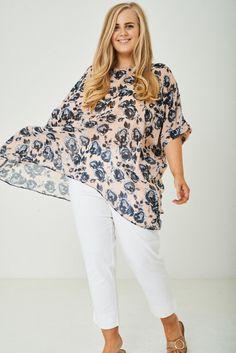 Lagenlook Plus Size Sheer Kimono Top Tunic Cover Up Chiffon 18 20 22 24 Floral Cotton Tunic Tops, Kimono Blouse, Cardigan Shirt, Size Clothing, Chiffon Tops, Plus Size Outfits, Cover Up, Floral, Casual