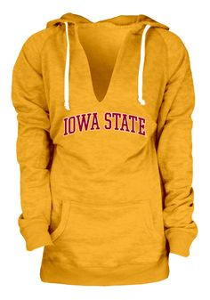 Iowa State Cyclones Hoodie - Womens Gold Burnout Fleece Pullover Hooded Sweatshirt http://www.rallyhouse.com/college/iowa-state-cyclones/a/womens/b/clothing/c/jackets-sweatshirts?utm_source=pinterest&utm_medium=social&utm_campaign=Pinterest-ISUCyclones $49.99