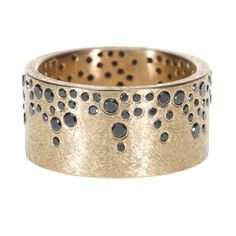 Todd Reed Black Diamond and 18K Rose Gold Band