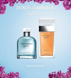 Dolce & Gabbana have launched new limited editions for Summer 2015 of their popular fragrances Light Blue The new releases are named Light Blue Sunset in Salina and Light Blue Pour Homme Swimming in Lipari.