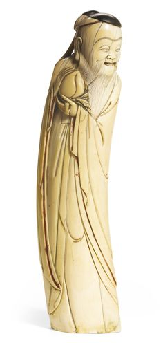 An ivory figure of an immortal, late Ming dynasty, 17th century. Photo Sotheby's