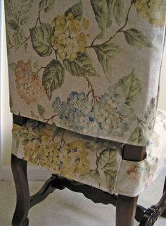 DIY Dining Chair Slipcover Pictorial Tutorial