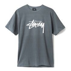 Classic logo tee from Stussy. Printed on pigment dyed, premium cotton body. Standard fit - 100% premium soft cotton - classic logo print - standard fit
