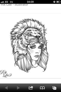 Lion headdress girl my next tattoo