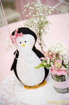 Arranjos de mesa Festa Pinguim