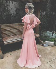 vestido de festa rosa casamento ao ar livre, vestido de festa rosa para madrinha