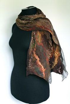 Nuno Felted Textured Scarf   Flickr - Photo Sharing!
