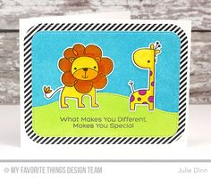 Wild About You Stamp Set and Die-namics, Stitched Basic Edges Die-namics, Blueprints 31 Die-namics - Julie Dinn #mftstamps
