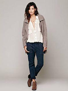 Free People Pinstripe Trouser, $128.00