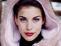 Liv Tyler is definitely a type 4, although there Color Analysis votes for both Cool Winter (straight 4) and Clear Winter (4-1). Cool Winter has icy pink and Clear winter has icy lavender. This lovely hood seems right between those two, maybe more pink. My guess is straight type 4 by personality, so Cool Winter as it's counterpart. But I'm open to type and season not matching perfectly.