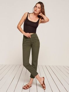 8017919a3ba0 Put some pants on. This is a high rise cargo pant with center front closure