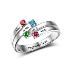25% off until January 1st, 2018 with Voucher code ~ Jolly25 > Shop now and create that unique piece for your someone special!  >>  Personalised Split Band Ring - 925 Sterling Silver