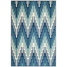 @Overstock - Indoor/Outdoor Blue Ikat Rug (6'7 x 9'6) - Create your oasis indoors or out with the exciting pattern of this stylish rug. This rug features a lively palette and is designed to withstand the rigors of outdoor use.      http://www.overstock.com/Home-Garden/Indoor-Outdoor-Blue-Ikat-Rug-67-x-96/8075336/product.html?CID=214117  $163.99