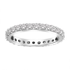 18k Gold Bead-Set Diamond Eternity Ring (1.00 cttw, G-H Color,SI1-SI2 Clarity) $1,200.00