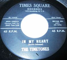 """The Timetones - sometimes shown as The Time-Tones - was a racially mixed early 1960s New York City Doo-Wop quintet that, originating in Glen Cove, Long Island, consisted of lead Rodgers LaRue along with Tom Glozek, Glenn Williams, Tom DeGeorge and Claude """"Sonny"""" Smith. Their sole national charter came in May 1961 for Times Square Records, an offshoot of the famed record store of the same name at Broadway and 42nd Street, owned by Irving """"Slim"""" Rose"""
