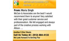 McCain & Associates are the best! I would recommend them to anyone! Very satisfied with...