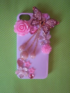 Bling Alloy iPhone 5 Cell Phone Case by TrizzyBows on Etsy, $25.00
