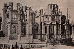 En el Año Santo de 1900 S.S. León XIII proclamó el patronazgo de la Virgen de Luján. Así se veía la Basílica en plena construcción.