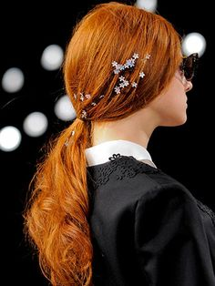 Spring 2014 Adornments Hair Trend - New York Fashion Week Spring 2014 Hair Trends - Real Beauty