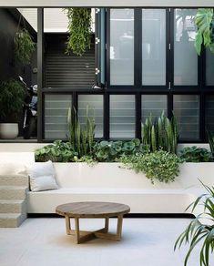 Outdoor Rooms, Outdoor Gardens, Outdoor Living, Outdoor Ideas, Front Courtyard, Courtyard House, Landscape Design, Garden Design, Terrace Design