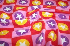 Jersey Platz star pink Sterne Kreise Karos Liandlo Meterware ab 25cm x 160cm