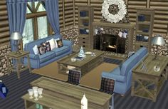 ATS Beach House Living Room Sims 2 Hair, Sims Ideas, Victorian Goth, Winter Cabin, Sims 1, Sims 4 Custom Content, French Furniture, Free Stuff, Winter Holidays