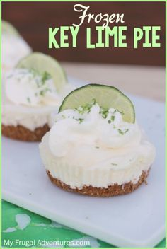 Frozen Key Lime Pie Recipe- so easy and fresh for Spring and Summer!