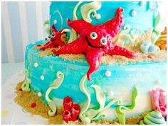 I have put up a tutorial here on cakesdecor on how to make the little hermit crabs :)