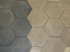 Carrelage hexagonal gris et blanc sol et mur 15x15 s rie for Carrelage faible epaisseur pour renovation
