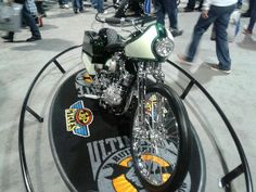 Another shot of the custom Panhead in Long Beach.