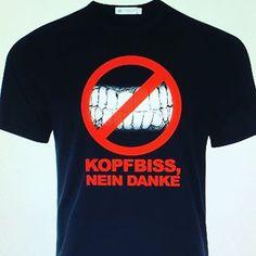 Kopfbiss nein danke t-Shirt Design @denismuric.design . . . . . #photoshopartist #berlin #kopfbiss #zahn #zahnarzt #zahntechnik #design #php #css #html5 #java #rafcamora #bausa #capitalbra #kudamm #zahndesign T Shirt Designs, Php, Berlin, Photo And Video, Mens Tops, Instagram, Fashion, Dental Art, Thanks